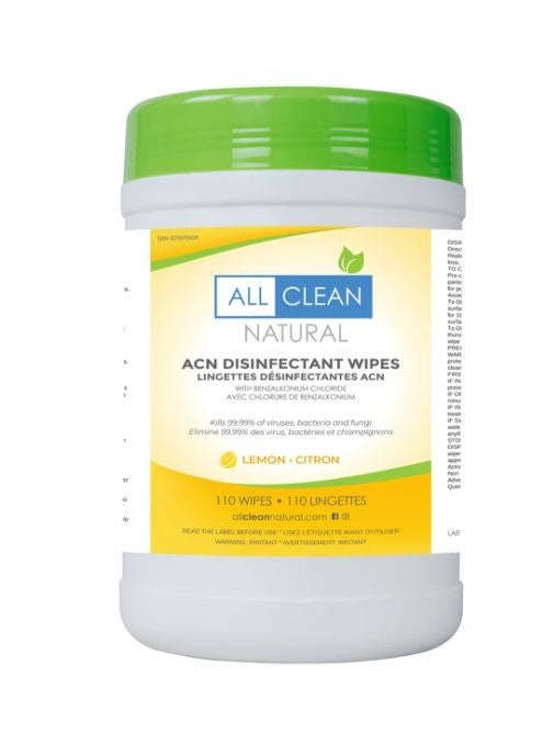 All Clean - 110 BZK Lemon Disinfectant Wipes