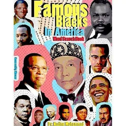Famous Blacks in America Word Search Booklet