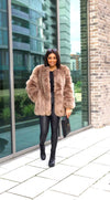 Brooklyn 6 Rows Long Faux Fur Coat