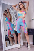 Mia Bandeau Top & Cycling Shorts Set