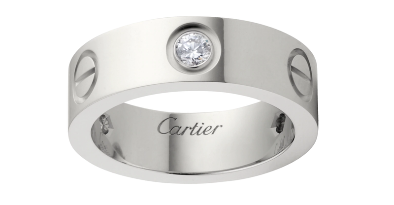 Stainless Steel Love Wedding Band With Beads Silver Color