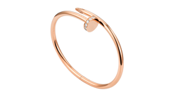 Stainless Steel Juste Un Clou Bracelet With Beads Rose Gold Color