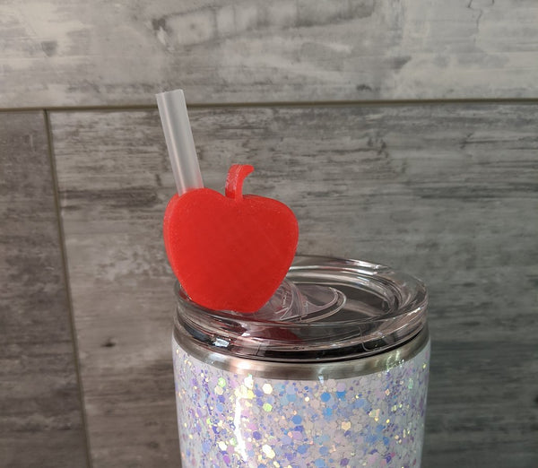 Straw Toppers Apple Shape