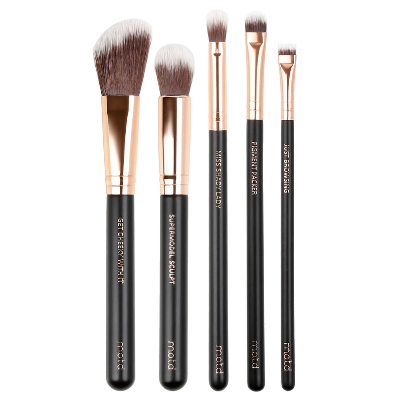 Fierce in Five Face and Eye Makeup Brush Set