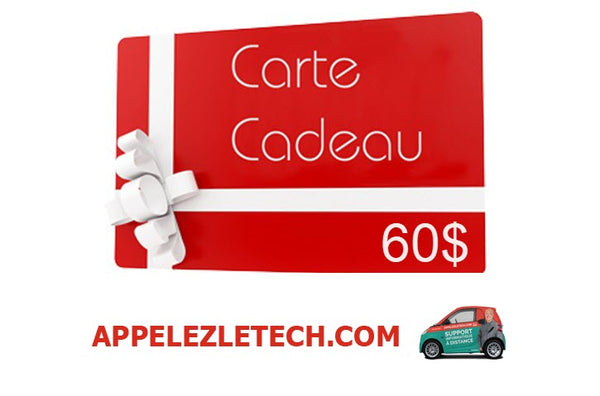 Carte cadeau de support informatique