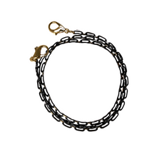 Load image into Gallery viewer, Black Chain Track Mask Lanyard