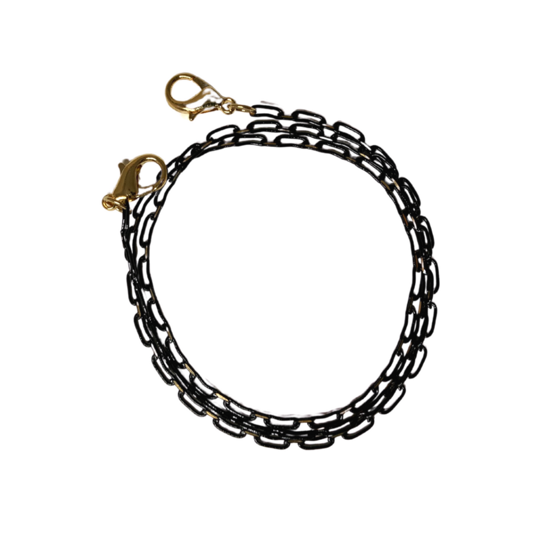 Black Chain Track Mask Lanyard
