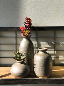 Set of 3 Ceramic Bud Vases