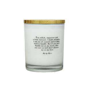 Marilyn Monroe Quote Candle