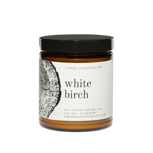 White Birch Large Candle