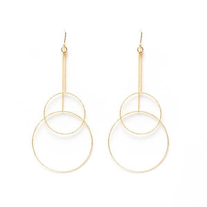Graduated Double Hoop Earrings