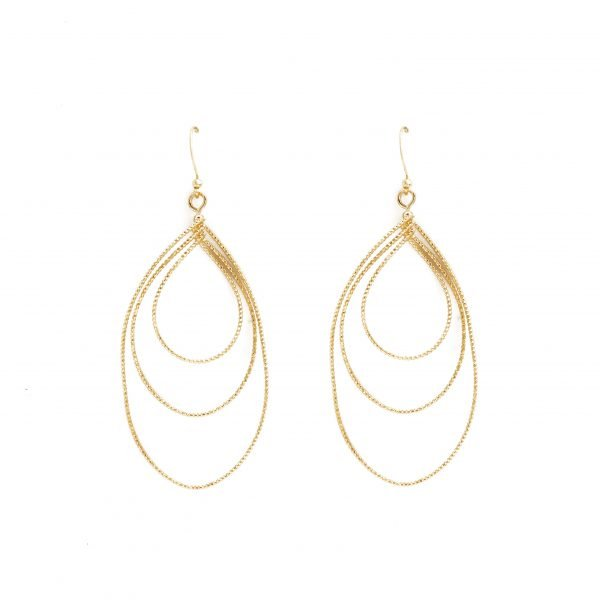 Triple Twisted Teardrop Earrings (3 Color Options)