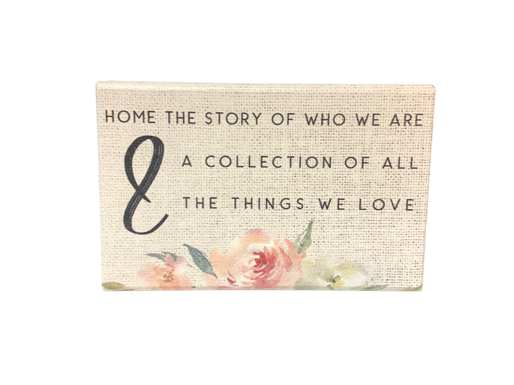 Home The Story Of Who We Are Wood Block