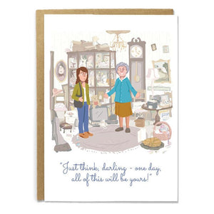 """Just Think, Darling"" Greeting Card"