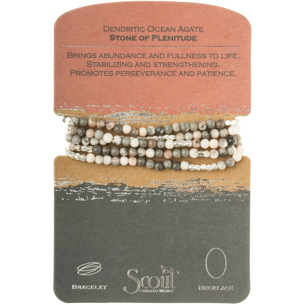 Ocean Agate - Stone of Plenitude Wrap Bracelet/Necklace