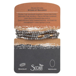 River Stone - Stone of Balance Wrap Bracelet/Necklace