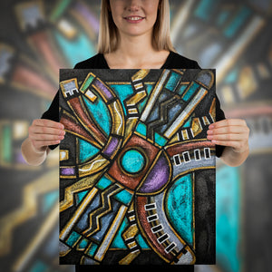 Open image in slideshow, Hopi Water Symbol's Canvas Print