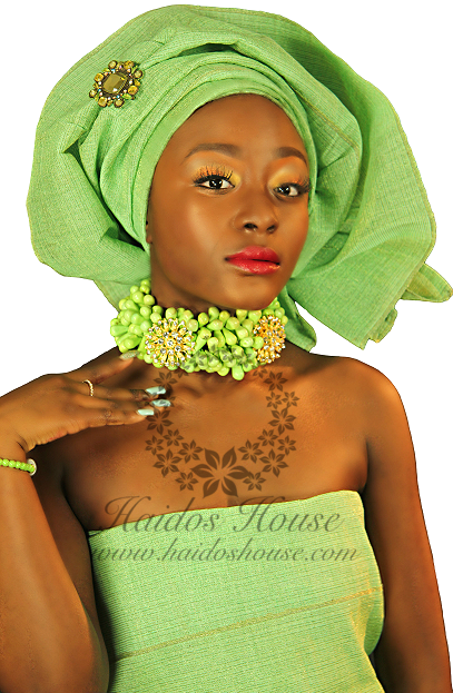 HBS 1339 - Lime Green Collar Set