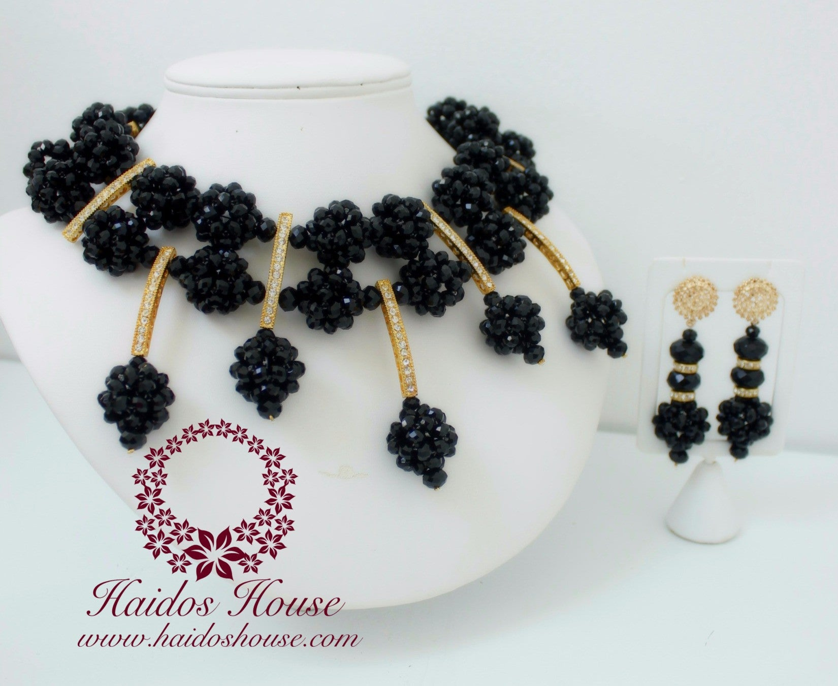 HBS 1214 - Black Chunky Bespoke Beads Set