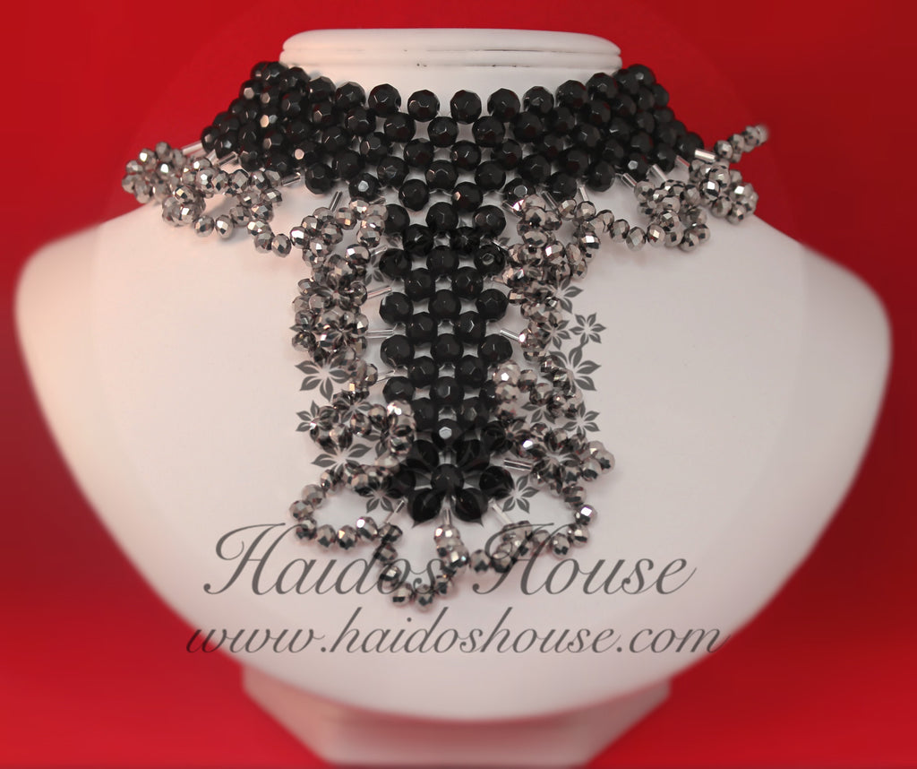 HBS 1341 -  Black & Silver Beads Set