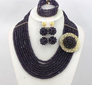 HBS 2407 - Black Multi-strand Bead Set