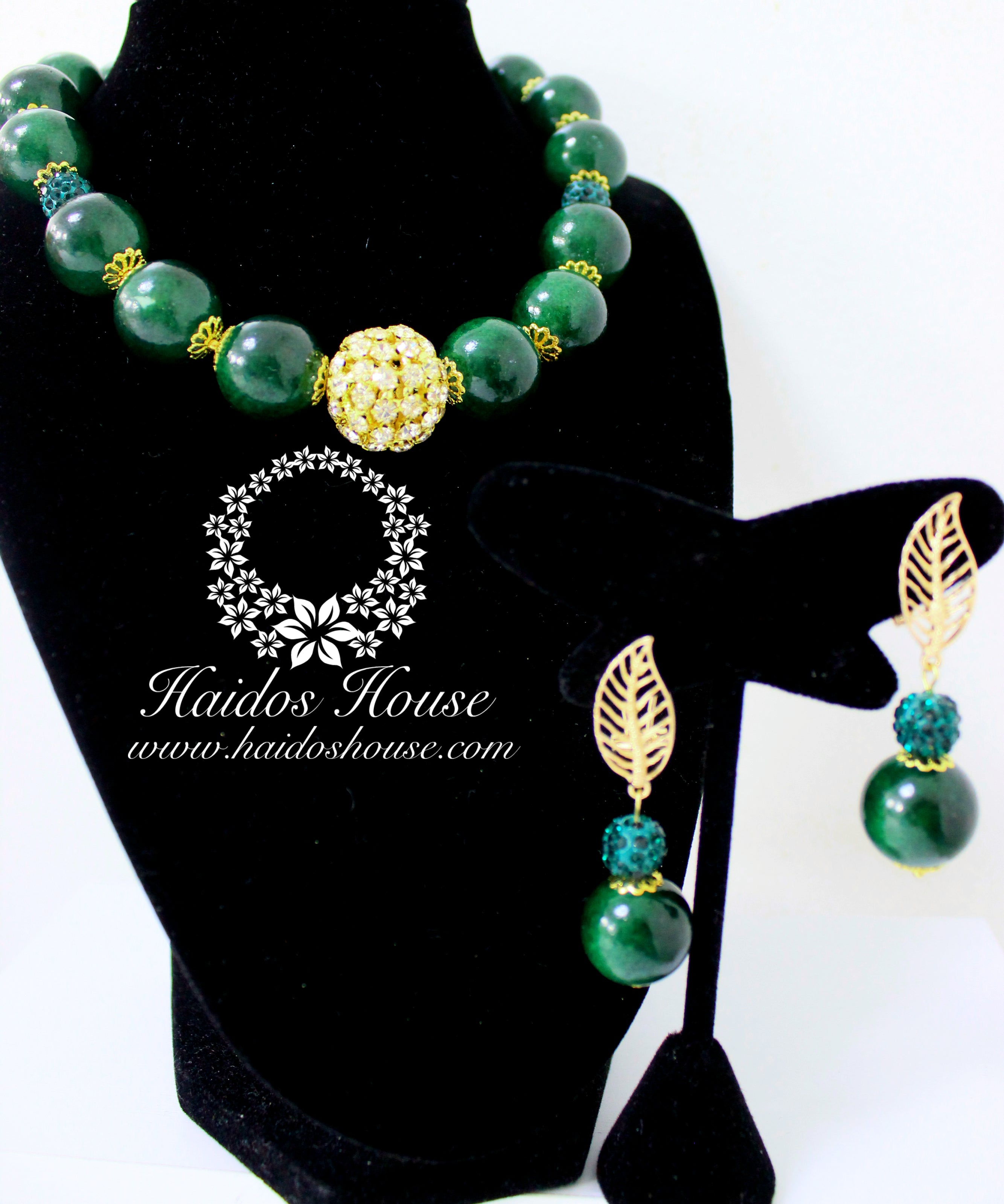 HBS 1182 - Haidos Dark Green Beads Set