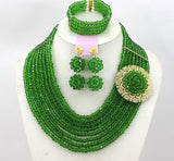 HBS 2409 - Green Multi-strand Bead Set