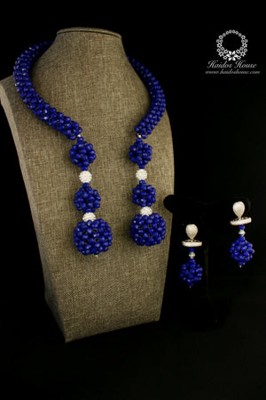 HBS 1178 - Haidos Blue Woven Bespoke Beads Set