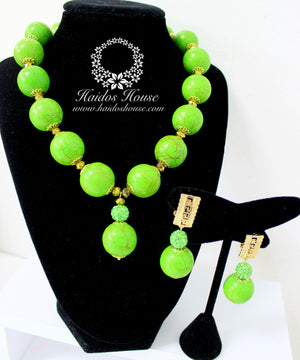 HBS 1181 - Haidos Lime Green Beads Set