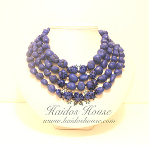 HBS 1302 - Royal Blue Beads Set