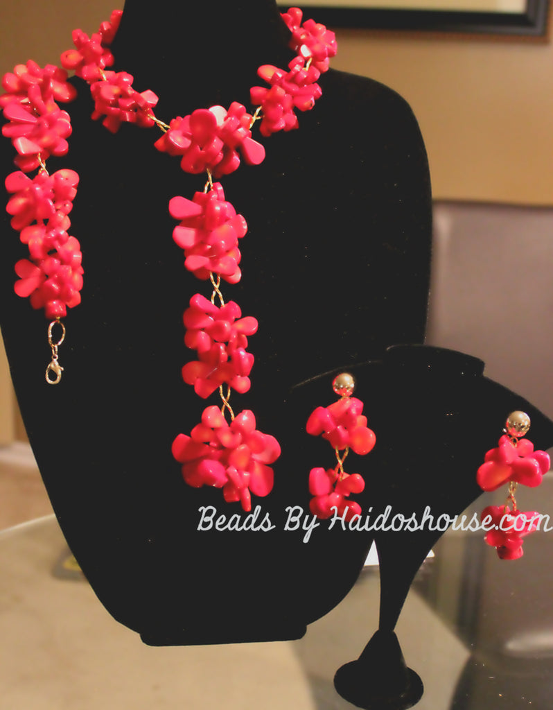 HBS 2807 - Red Coral Beads Set