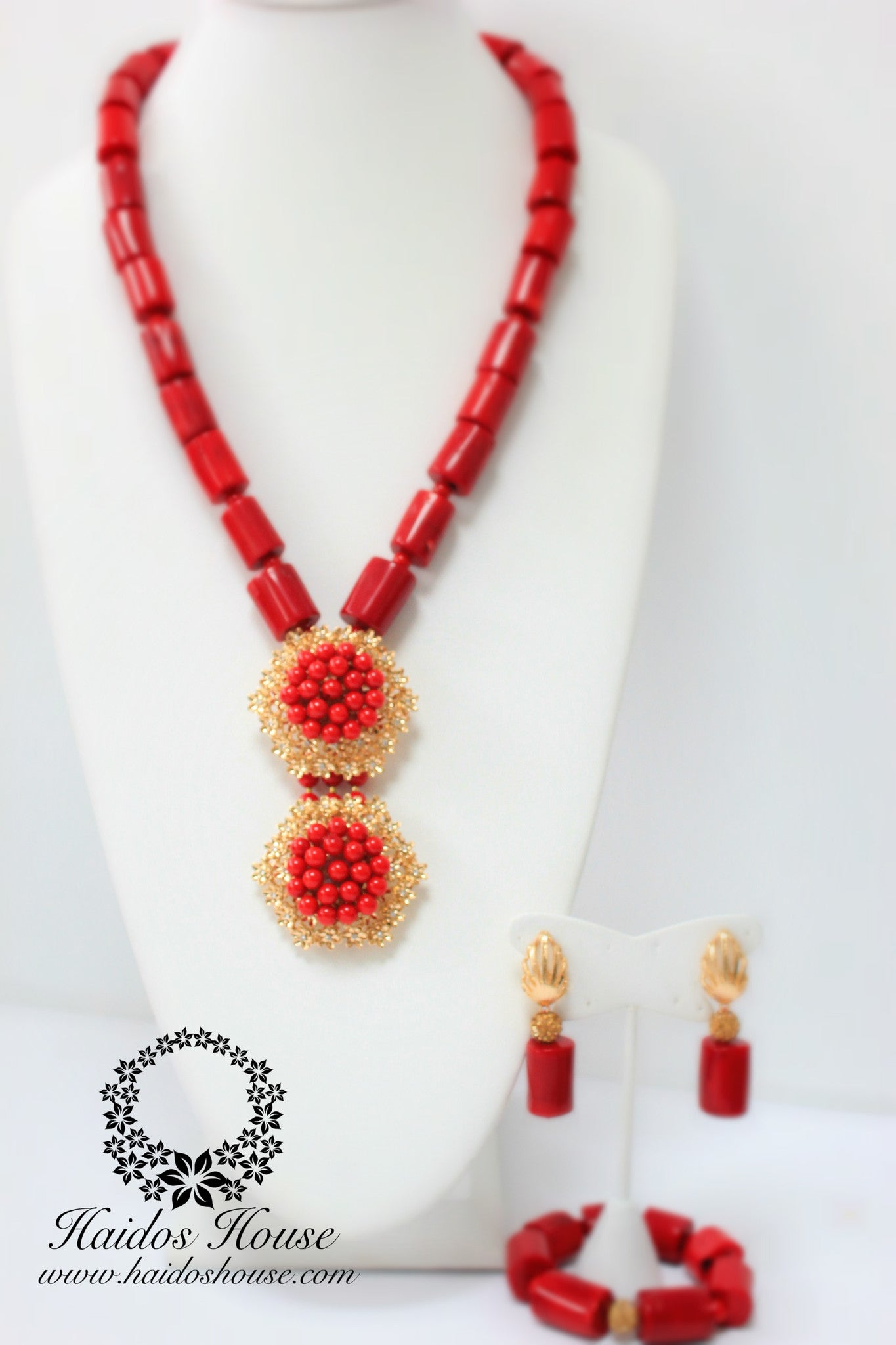 HBS 1247 - Red Coral Bead Set