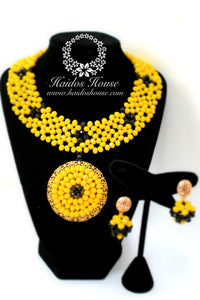 HBS 1228 - Yellow & Black Beads Set