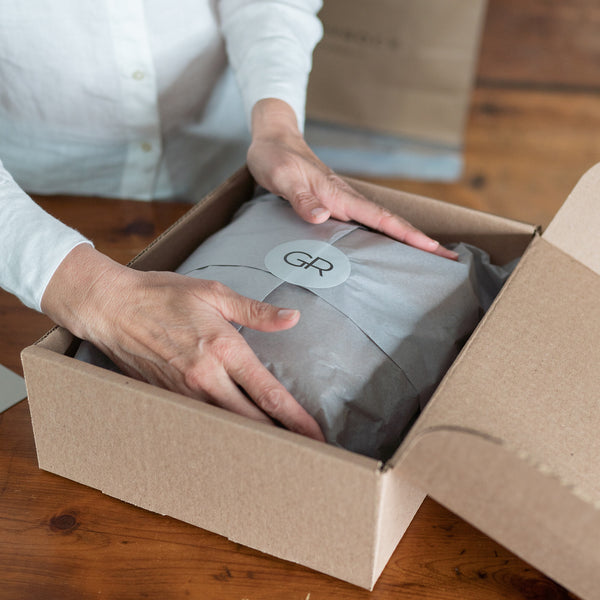 Grey Rock package being prepared for shipping