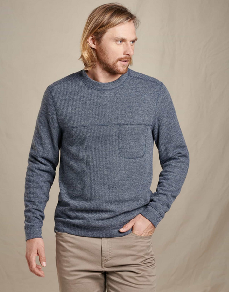 Toad & Co. Breithorn Crew Sweater in Nightsky front