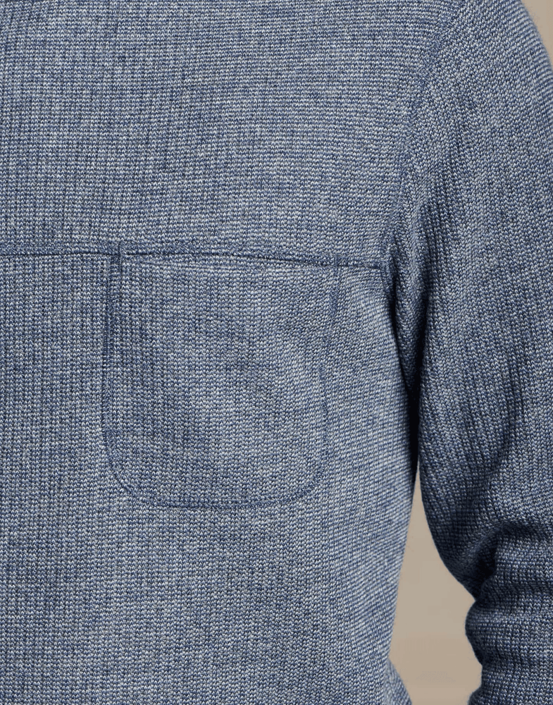 Toad & Co. Breithorn Crew Sweater in Nightsky close up