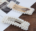Load image into Gallery viewer, Pearl hair clip set - Ivory