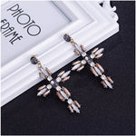 Load image into Gallery viewer, Rhinestone Cross Earring