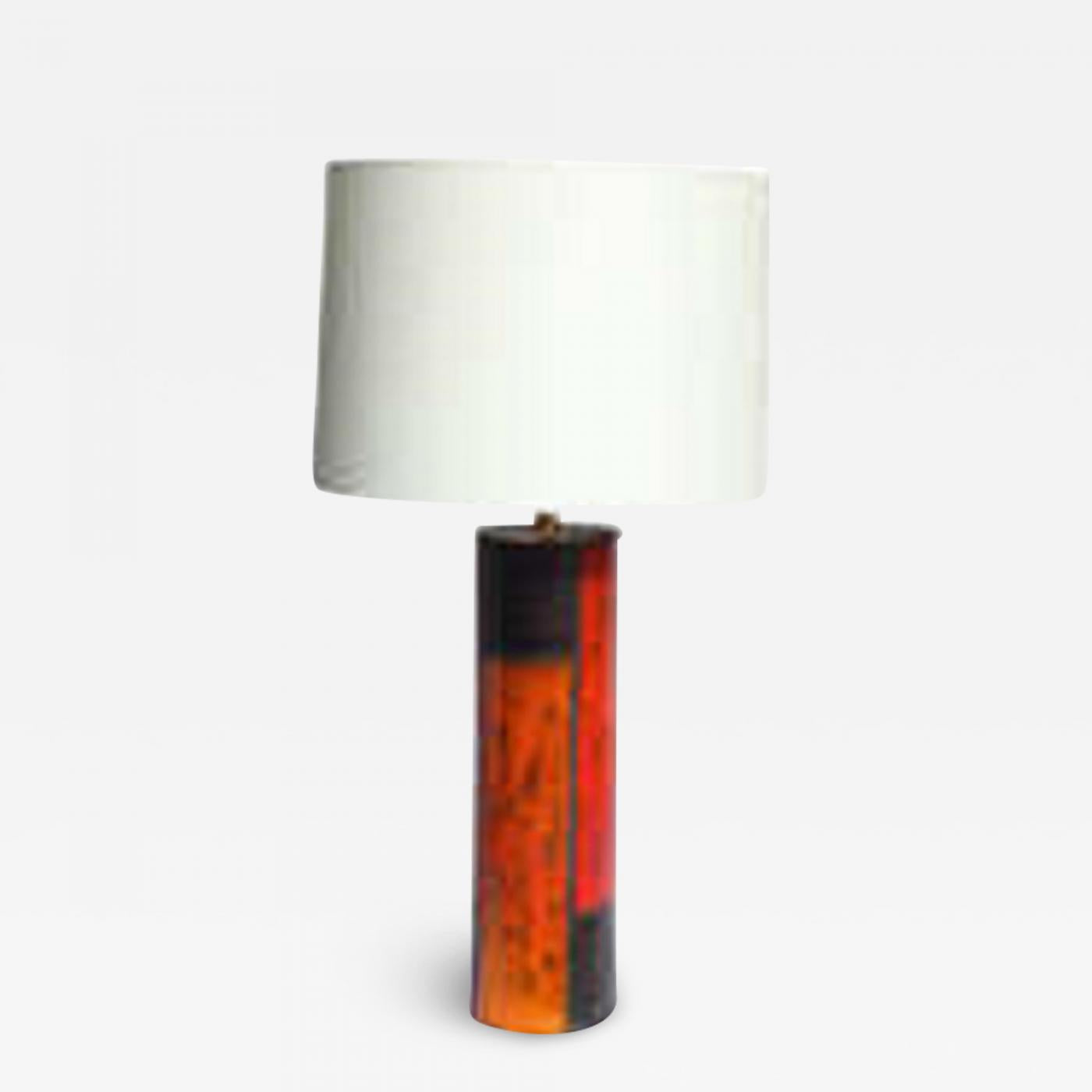 Aldo Londi (Attributed) Aldo Londi Table Lamp Mid Century Modern Ceramic Mondrian line Italy 1959