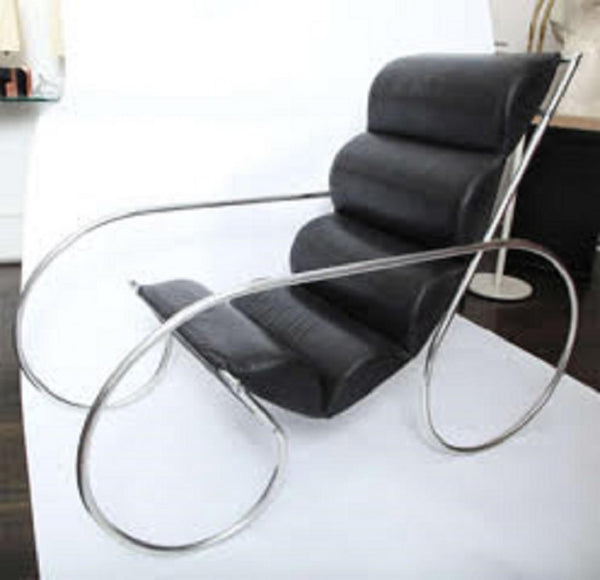 American Modernist Lounge Chair and Ottoman