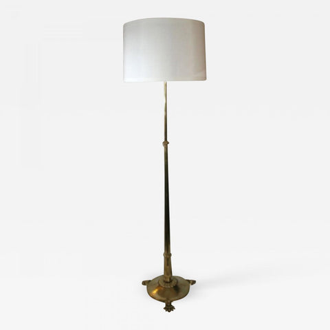 Floor Lamp Classical Modern height adjusts brass German 1920's