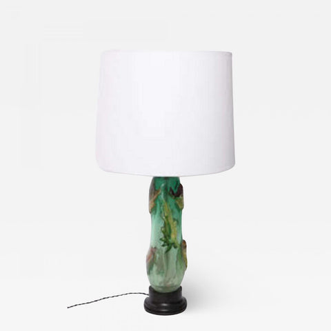 Fratelli Toso (Attributed) Fratelli Toso Table Lamp Mid Century Modern Murano Art Glass Italy 1940's