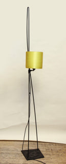 Italiana Luce Floor Lamp Mid Century Modern Shade height adjusts iron and plexiglass Italy 1970's