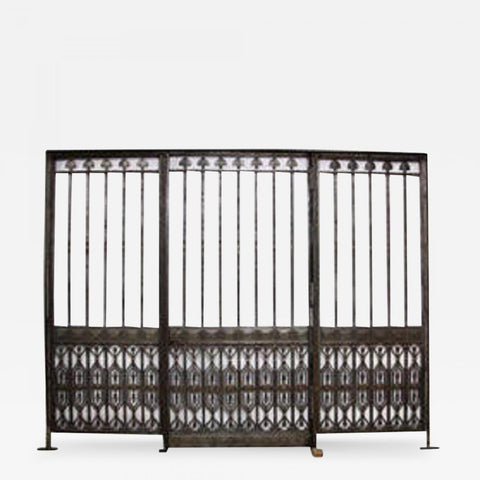 Monumental Oscar B Bach Gates from Bank of NY & Trust Co.