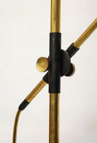 Oscar Torlasco (Attributed) An Articulated Floor Lamp by Torlasco Mid Century Modern