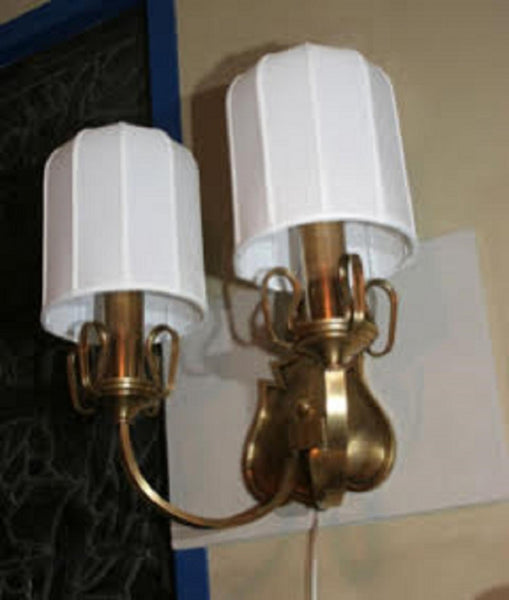 Sconces Pair Art Deco brass Austria 1920's