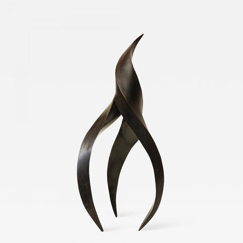 Sculpture Abstract Futurist Patinated Bronze Mid-Century Modern, Italy, 1940s