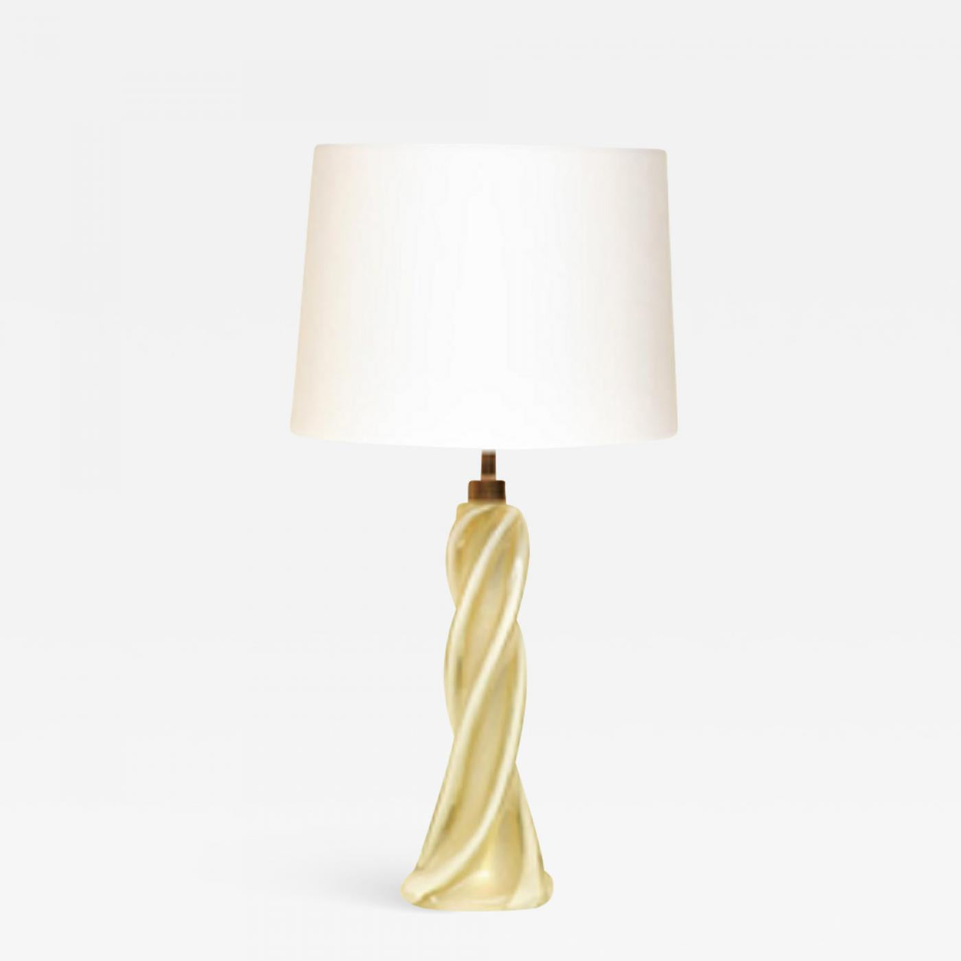 Seguso (Attributed) Seguso Table Lamp Murano Art Glass Mid-Century Modern, Italy, 1950s