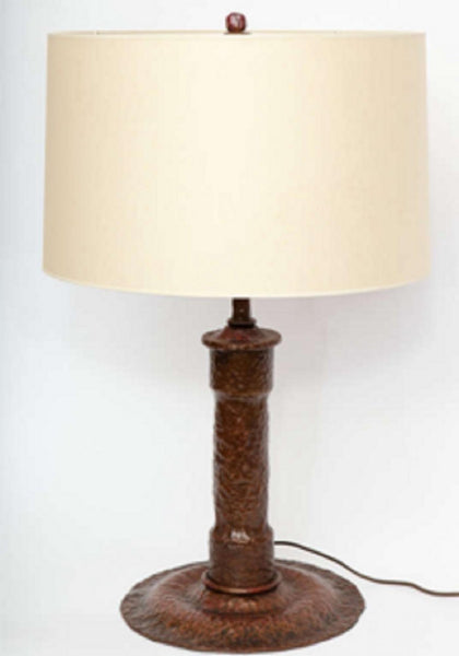 Table Lamp Arts and Crafts hammered bronze America 1920's