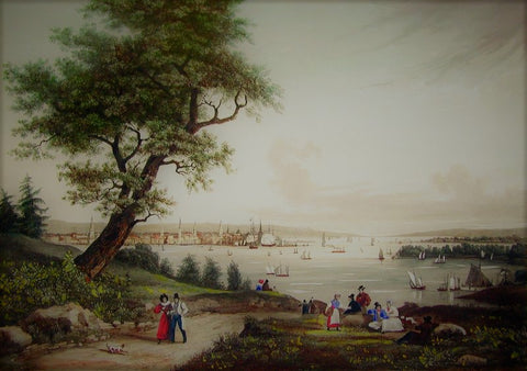 Himley after Garneray, Ambroise Louis (1783-1857). View of New York Taken from Weehawken. New York & Paris, c. 1834.